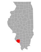 Karte Von Randolph In Illinois