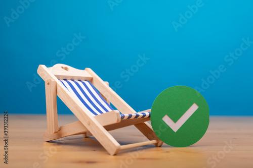 Obraz na plátně holiday summer vacation beach chair concept