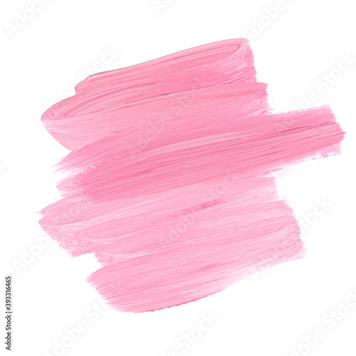 Logo make up brush painted  background isolated. Perfect design for headline and sale banner.