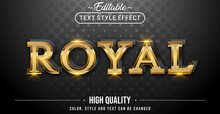Editable Text Style Effect - Luxury Gold Royal Text Style Theme.