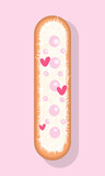 Fototapeta Dinusie - vector image of eclair, eclair icon for menu or online store