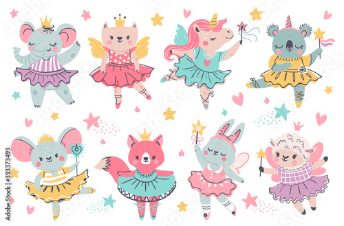 Fotografiet Animal fairy ballerina