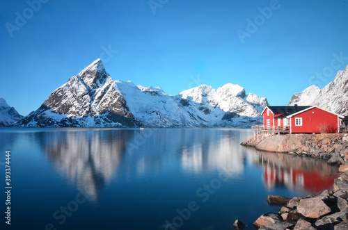 Платно Lofoten islands in the winter, Norway