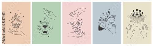 Mystical line hands Fototapete