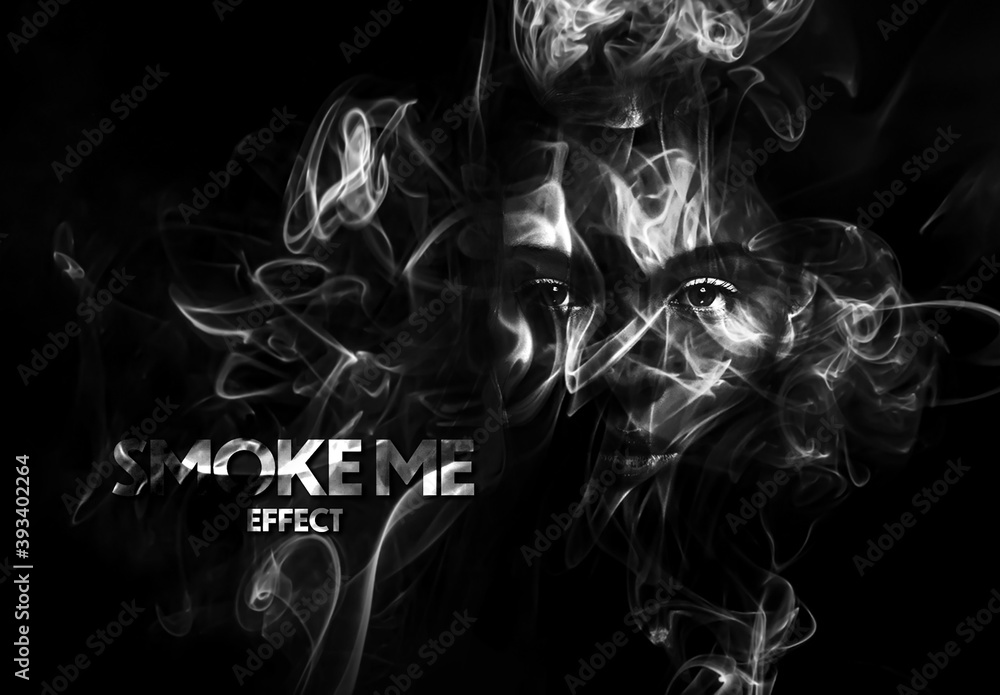 Fototapeta Smoke Mask Effect