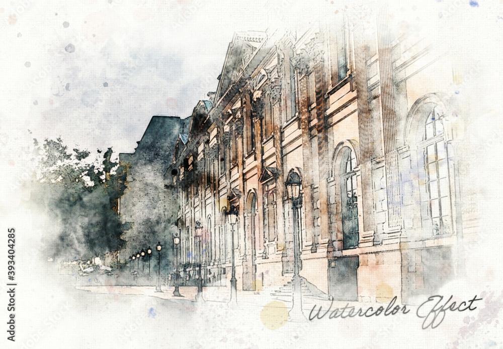 Fototapeta Watercolor Effect