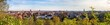 canvas print picture - Großes Panorama über die Skyline der Stadt Halle Saale in Deutschland