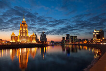 Evening Panorama Of Moscow Wit...