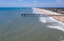 The St. Johns County Ocean And Fishing Pier In St. Augustine Beach, Florida In 2020.