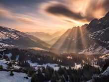 Magical Morning N The Swiss Alps