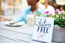'Gluten Free' Sign At Pavement...