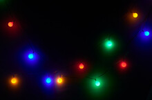 Colorful Glowing String Lights