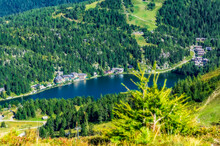 Beautiful Landscape With Lake At Turracher Hoehe, Gurktal Alps, Austria