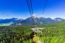 Austria, Tyrol, Ski Lift And Tourist Resort In Wetterstein Mountains During Summer