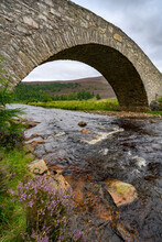 Old Stone Bridge In Cairngorms National Park