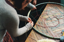 Friends Making A Mandala