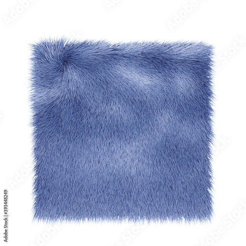 A naturalistic square rug in blue, isolated on a white background Canvas Print
