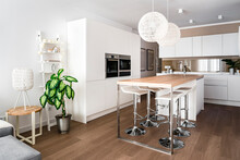 Modern Dining Room With Two Pe...