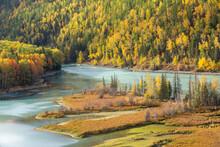 Kanas Lake In Xinjiang, China