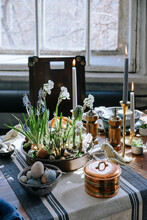 Easter Decorated Table.
