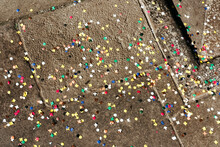 Confetti Scattered On The Stre...
