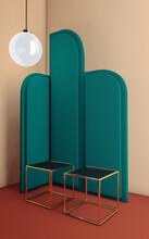 Interior Corner With Art Deco Style