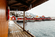 Wooden Quay With Seagulls On W...