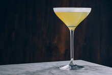 Elegant Sidecar Cocktail On Marble Table