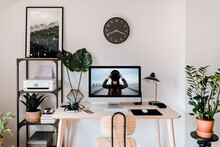 Stylish Interior Of Photographer Workplace