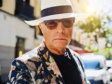 Handsome Elderly Man In Trendy...