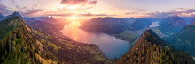 Epic Sunset Panorama In The Be...