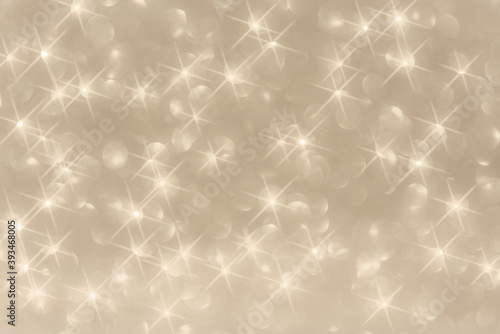 Trendy champagne colour background with bokeh orbs and stars Fototapete