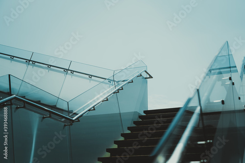 Modern Architecture; Modern Stairs; background or texture
