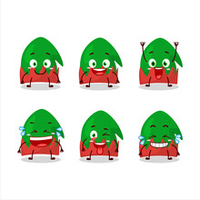 Cartoon Character Of Dwarf Hat With Smile Expression