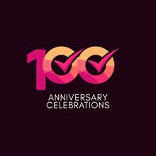 100 Years Anniversary Celebration Full Color Vector Template Design Illustration