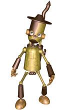 3d Render Of A Toon Tin Man