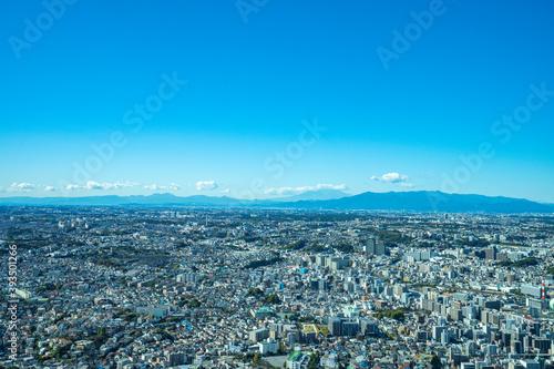 Fototapeta 【横浜ランドマークタワーより】横浜市、都市景観・眺望