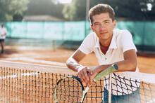 Young Mixed Race Man Tennis Pl...