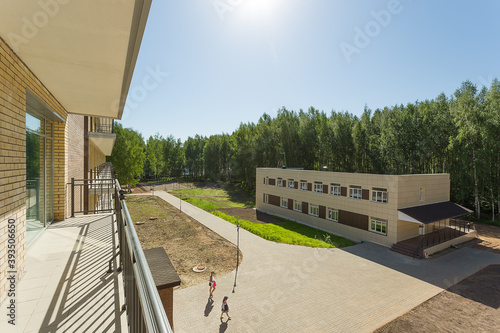 Cuadros en Lienzo beautiful view from the loggia to the nature of the banks of the Volga river on