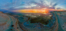 Aerial Sunset Panorama At Bomb...