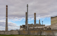 Industrial Plant And Chimney