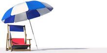 Beach Chair With Flag Of Franc...
