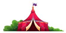 Circus Vintage Tent Flat Vecto...