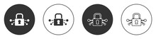 Black Cyber Security Icon Isol...