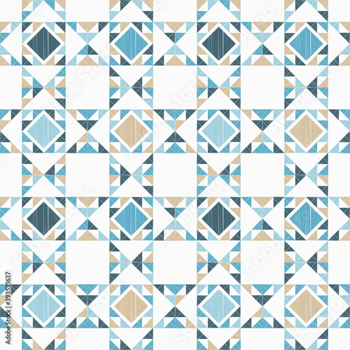 Fototapeta Aztec elements. Seamless pattern. Design with manual hatching. Textile. Ethnic boho ornament. Vector illustration for web design or print. obraz