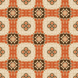 Fototapeta Kuchnia - Creative color abstract geometric pattern in beige orange brown, vector seamless, can be used for printing onto fabric, interior, design, textile, rug, carpet.