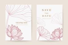 Minimal Floral Wedding Invitat...