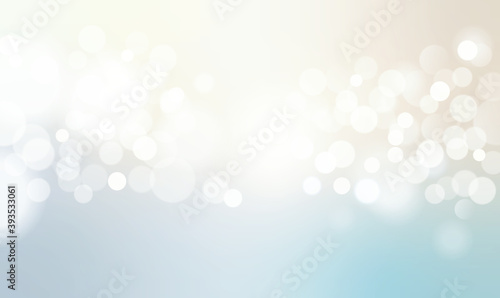 Obraz Bokeh silver gold and white background with texture. Bokeh colorful glows sparkle beautiful New year day concept. and used for background and display your product. - fototapety do salonu