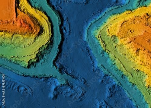 Obraz na plátne Digital elevation model