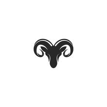 Rams Head Logo Template Silhouette Icon